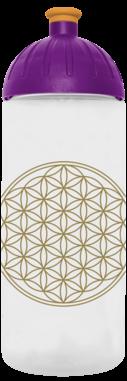 FreeWater Trinkflasche Blume des Lebens 0,7l transparent