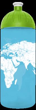FreeWater Trinkflasche Weltkarte 0,7l türkisblau