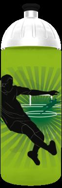 FreeWater Trinkflasche Fußballer 0,7l grün 376 transluzent