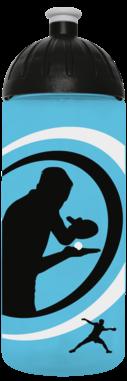 FreeWater Trinkflasche Tischtennis 0,7l türkisblau transparent