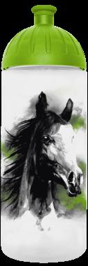 FreeWater Trinkflasche Pferd romantisch 0,7l transparent - grün