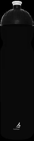 FreeWater Trinkflasche Logo klein, 1,0 l Schwarz blickdicht