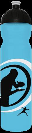 FreeWater Trinkflasche Tischtennis 1,0l türkisblau transparent