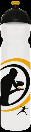 FreeWater Trinkflasche Tischtennis 1,0l transparent
