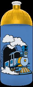 FreeWater Trinkflasche Dampflok 0,5l blau 2727 transparent