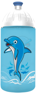 FreeWater Trinkflasche Delfin 0,5l  türkisblau 2985 transparent