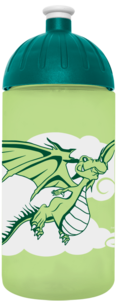 FreeWater Trinkflasche Drache 0,5l Grün 366 transparent