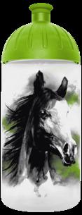 FreeWater Trinkflasche Pferd romantisch 0,5l transparent - grün