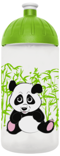 FreeWater Trinkflasche Panda 0,5l transparent