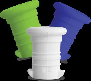 FreeWater Trinkverschlüsse (3er Set: weiß, 2728, 368)