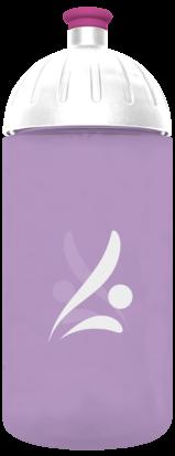 FreeWater Trinkflasche Logo 0,5l Lila transparent