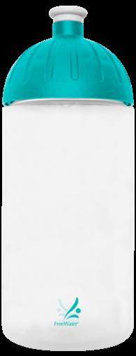 FreeWater Trinkflasche Logo klein 0,5l transparent