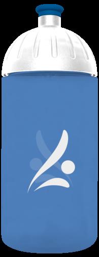 FreeWater Trinkflasche Logo 0,5l Blau transparent
