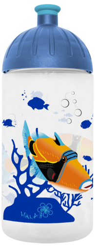 FreeWater Trinkflasche Fisch 0,5l transparent