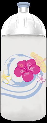 FreeWater Trinkflasche Frangipani 0,5l transparent