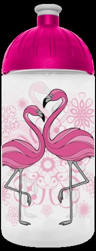 FreeWater Trinkflasche Flamingo 0,5l transparent