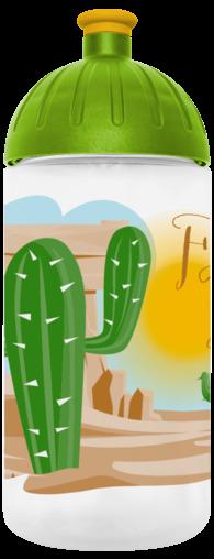 FreeWater Trinkflasche Kaktus 0,5l transparent