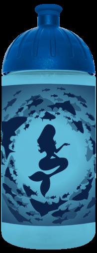 FreeWater Trinkflasche Meerjungfrau 0,5l türkisblau transparent