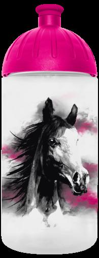 FreeWater Trinkflasche Pferd romantisch 0,5l transparent - magenta