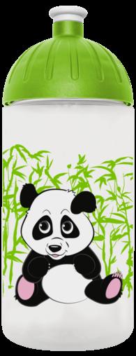 FreeWater Trinkflasche Panda 0,5l transparent