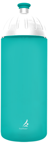 FreeWater Trinkflasche Logo klein 0,7l aqua transparent