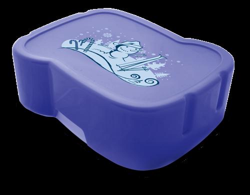 FreeWater Box Schneemann, Blau transparent
